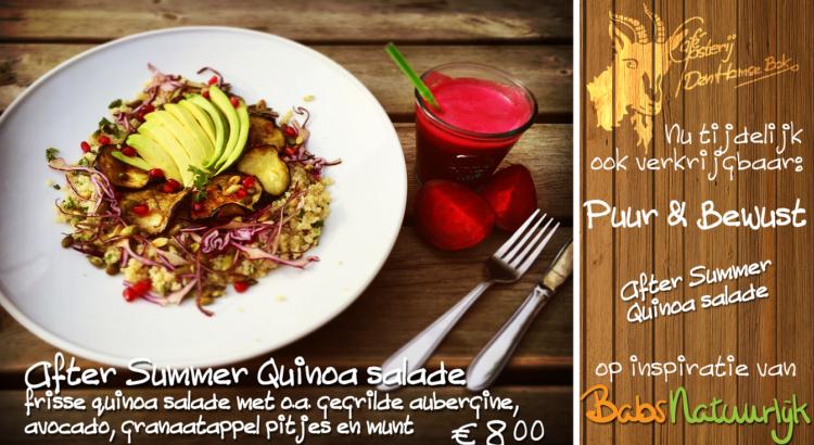 quinoa salade met herfst slowjuice